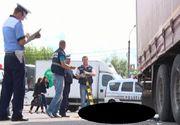 Un sofer de TIR din Iasi a lovit, ucis si tarat o femeie mai multe sute de metri - Soferul a mers cu cadavrul agatat de masina pana cand a fost oprit de catre Politie