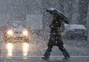 Capitala si 18 judete au intrat sub cod portocaliu de ploi abundente si vant puternic. La munte ninge si va fi viscol
