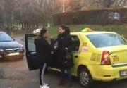 SCENE SOCANTE in Bucuresti! Un taximetrist loveste o femeie pentru ca nu a vrut sa ii dea 4 lei bacsis!