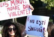 """""""Cea mai mica lovitura/ Nu e dragoste, e ura!"""" Sute de oameni au participat la marsul """"impreuna pentru siguranta femeilor"""""""