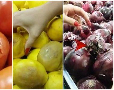 Legume stricate si fructe mucegaite intr-un lant de hipermarketuri din Capitala!...