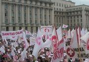 Proteste de amploare al angajatilor din sistemul sanitar, in Bucuresti, dupa ce ministrul de Finante le-a dat vestea ca nu sunt bani pentru cresterile salariale