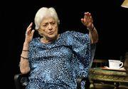 "Actori, studenti si prieteni i-au adus un omagiu ""reginei mama"" Olga Tudorache, vineri, in foaierul Teatrului National"