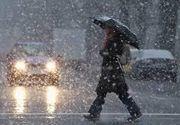 Val de aer polar peste România. Temperaturile scad cu 20 de grade si vin ploi abundente
