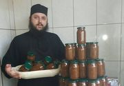 Parintele Efrem de la manastirea Dervent a pus la pastrat in camara mai multe borcane pline cu …samburi de struguri! Ce face cu ei