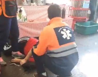 Caz socant in Bucuresti! Un barbat a murit in mainile medicilor chiar in Piata Obor
