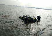 Imagini de cosmar in Capitala! O masina a ajuns direct in Lacul Morii