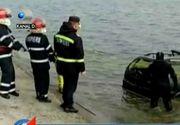 Masina misterioasa, scoasa din Lacul Morii de catre pompieri! Criminalistii au venit imediat la fata locului