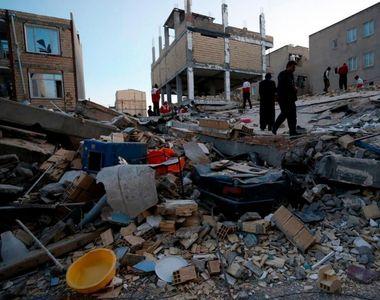 Cutremur de 7,3 grade la granita dintre Iran si Irak. Pana acum sunt peste 320 de morti...
