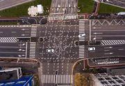 """Marcajele din celebra intersectie de la Pasajul Jiului din Timisoara a ajuns in prea internationala: """"Drumul spre Iad. Ati putea conduce pe aici?"""""""
