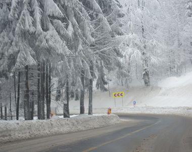 Locul din Romania unde stratul de zapada atinge 20 de centimetri. Traficul a fost...