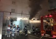 Incendiu puternic la un atelier din Cluj-Napoca. 70 de persoane au fost evacuate