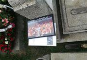 Imagini impresionante de la mormantul Stelei Popescu! Coroanele si florile au blocat toate aleile de langa cripta actritei