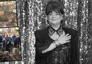 Incident la inmormantarea Cristinei Stamate - Groparii au fost la un pas sa scape sicriul cand l-au coborat in groapa. Lumea, inmarmurita in fata acestor scene