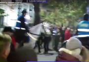 """Jandarmeria cere sprijinul cetatenilor pentru identificarea unui barbat care a lovit un cal la protestul de duminica: """"Dar cu caii ce-ati avut?"""" VIDEO"""