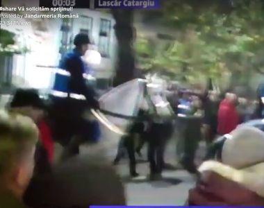 Jandarmeria cere sprijinul cetatenilor pentru identificarea unui barbat care a lovit un...