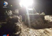 Viscolul a lovit Romania! In miez de noapte, o comuna si trei sate au ramas paralizate