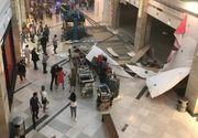O bucata de tavan s-a prabusit la un mall din Constanta. Nicio persoana nu a fost ranita