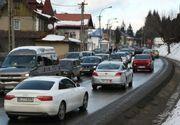 Circulatie ingreunata pe Valea Prahovei! Politistii recomanda o alta ruta!