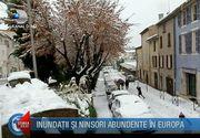 Iarna neobisnuita in intreaga Europa! Zapada s-a asternut in zone unde nu a mai nins de 15 ani - Un fenomen meteo extrem a determinat armata sa intervina in Albania