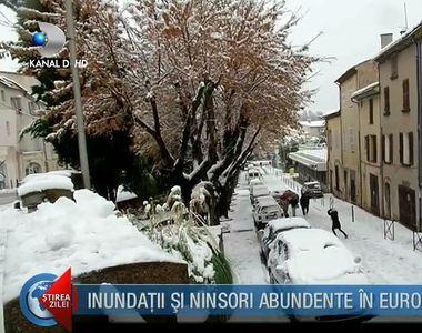 Iarna neobisnuita in intreaga Europa! Zapada s-a asternut in zone unde nu a mai nins de...
