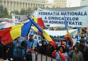 Mitingul de protest al Blocului National Sindical fata de Codul fiscal a inceput. Peste o mie de sindicalisti sunt in Piata Victoriei