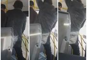 Inregistrare infricosatoare! Ce a facut o persoana cu tulburari de comportament intr-un autobuz din Ploiesti - Oamenii sunt speriati