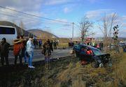 Bacau: Plan rosu de interventie dupa ce un autocar si un autoturism s-au ciocnit, cel pusin sase persoane fiind ranite
