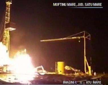 Cum ar fi izbucnit incendiul de proportii de la o sonda petroliera din Satu Mare