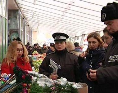 Peste 4000 de brazi de Craciun, confiscati de catre politisti!