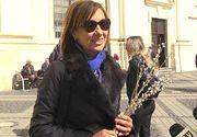 Carmen Iohannis a participat singura la slujba de Craciun de la Biserica romano-catolica din centrul Sibiului
