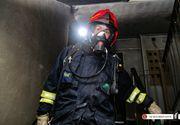 Incendiu puternic intr-un bloc din Bucuresti. Noua locatari au fost evacuate