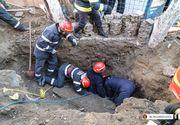 Accident pe soseaua Alexandriei: Un muncitor a fost prins sub o placa de beton