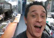 Satul sa astepte sa fie servit, un client al unui restaurant a sarit tejgheaua bucatariei si si-a facut selfieuri in timp ce-si facea singur mancare. Ce a urmat...