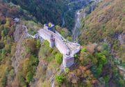 Se face funicular de 11 milioane de lei la cetatea lui Vlad Tepes! Pentru a ajunge pe zidurile de la Poenari trebuie sa urci acum 1480 de trepte!