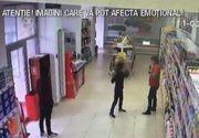 """A luat o sticla de vin si a inceput sa o ameninte pe vanzatoare: """"Taci din gura ca te lovesc"""" - Un pusti din Craiova a agresat o angajata intr-un supermarket"""