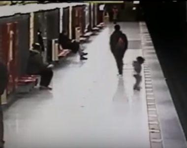Eroul de la metrou! A sarit pe sinele de tren, fara sa se gandeasca la propria viata,...