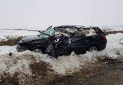 Accident socant in judetul Olt! Un autoturism a fost spulberat de un camion, iar soferul a decedat pe loc!