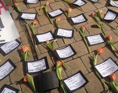 Cele mai triste imagini de 8 Martie - S-au depus flori pentru ELE, dar din pacate nu le...