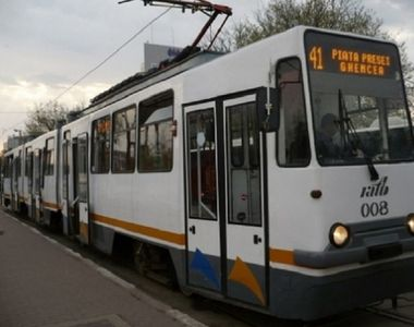 Circulatia tramvaielor 41 a fost reluata in Capitala, dupa ce fusese blocata din cauza...