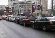 Iarna s-a intors! Haos in traficul din Bucuresti