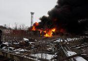 Incendiu puternic la o rafinarie din Prahova: Autoritatile intervin de urgenta