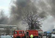 O fabrica din Oradea a luat foc in ziua de Florii! Fumul gros a acoperit rapid zona din apropiere!