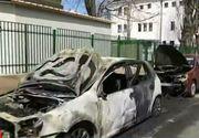 Un piroman a semanat teroare printre locuitorii din sectorul 1 al Capitalei! 8 masini au fost incendiate si au ars precum tortele!