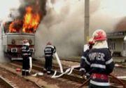 Incendiu violent intr-un tren care mergea spre Vatra Dornei. Clipe de groaza pentru calatori