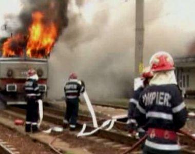 Incendiu violent intr-un tren care mergea spre Vatra Dornei. Clipe de groaza pentru...