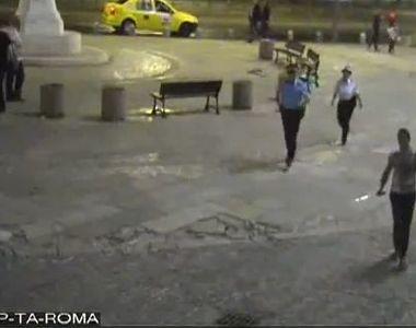 Momente de panica in Centrul Vechi al Capitalei! Un barbat a intrat cu o sabie printre...