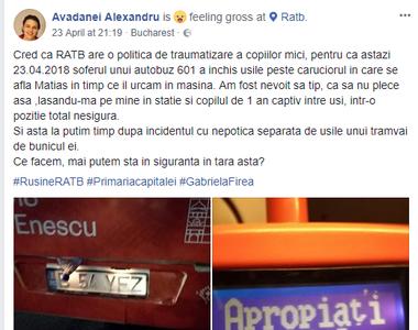 Un nou scandal in RATB! Soferul unui autobuz a inchis usile peste caruciorul in care se...
