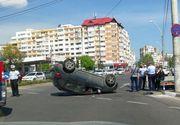 Accident spectaculos de circulatie, in Galati, provocat de o profesoara care consumase alcool inainte