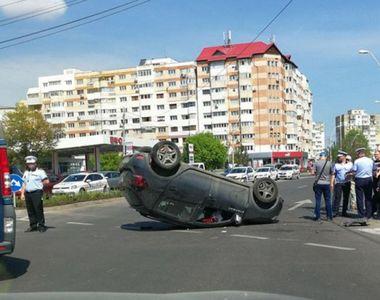 Accident spectaculos de circulatie, in Galati, provocat de o profesoara care consumase...